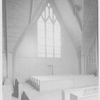 Westminster Chapel, West Hartford, Connecticut. Interior detail