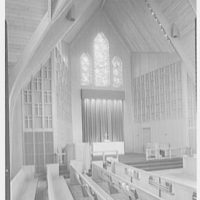 Westminster Chapel, West Hartford, Connecticut. To altar and pulpit I