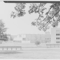 Bishop Reilly High School, Francis Lewis Blvd. and Queens Expressway, Jamaica, Long Island. West elevation, from park