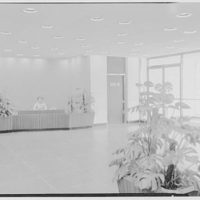 Liberty Mutual Life Insurance Co., 444 Merrick Rd., Lynbrook, Long Island. Entrance foyer with receptionist