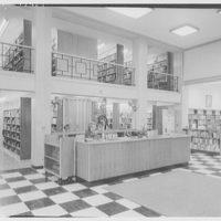 Mount Kisco Library, Mount Kisco, New York. Desk and shelves