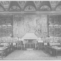 Pierpont Morgan Library, E. 36th St., New York City. Main room, from entrance door