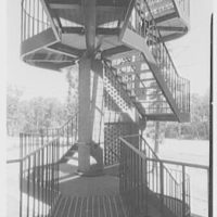 C.W. Post College, Marjorie Post Hall, Long Island University, Greenvale, Long Island. Fire escape I