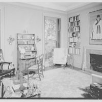 Julian Bach, residence at 241 E. 48th St., New York City. Library, to window