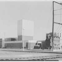 Public Service, Newark, New Jersey, Essex station. General view from southwest