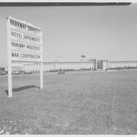 Rickels Supermarket Warehouse, Plainfield Rd. and New Durham Rd., South Plainfield, New Jersey. Sign and general view