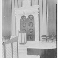 Shaare Zion Temple, 2030 Ocean Pkwy., Brooklyn, New York. Detail of ark