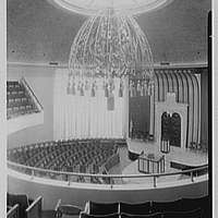 Shaare Zion Temple, 2030 Ocean Pkwy., Brooklyn, New York. View from balcony