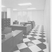 Warner Brothers Co., 90 Park Ave., New York City. Checkerboard floor