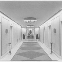 Warner Brothers Co., 90 Park Ave., New York City. Elevator corridor to Warner entrance