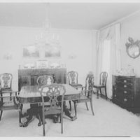C.G. Michalis, residence at 800 Park Ave., New York. Dining room, from living room