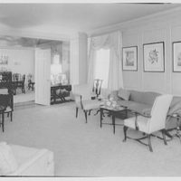 C.G. Michalis, residence at 800 Park Ave., New York. Living room III