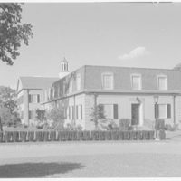 C.W. Post College, Riggs Hall (dormitory), Brookville, Long Island. Exterior, south and west facades