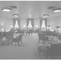 C.W. Post College, Riggs Hall (dormitory), Brookville, Long Island. Upper lounge