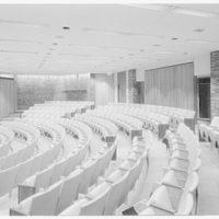 Courant Institute of Math, New York University, 251 Mercer St., New York City. Auditorium, cross view