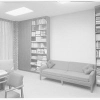 Courant Institute of Math, New York University, 251 Mercer St., New York City. Dr. Courant's office, to shelves
