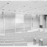 Courant Institute of Math, New York University, 251 Mercer St., New York City. Entrance, to blackboards