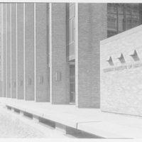 Courant Institute of Math, New York University, 251 Mercer St., New York City. Sharp view, close-up