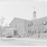 C.W. Post College, Brookville, Long Island. Humanities Building, detail from east, 11:15 a.m.