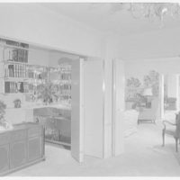 Essex House, penthouse apartment. Library, to bar