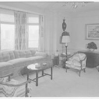 Essex House, penthouse apartment. Library, to window
